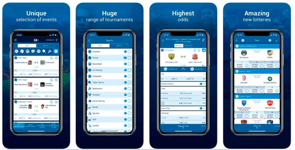 1xbet app in India